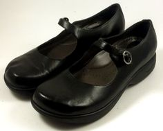 DANSKO Women's Shoes ~ Black Leather Mary Janes ~ Euro 37, US 7.5 #Dansko #MaryJanes