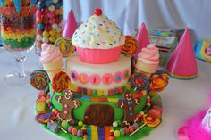 candy land first birthday party cake