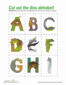 free printable dinosaur alphabet cards