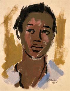 Women in Art History — Self Portrait, Samella Lewis African American Artist, American Artists, Selfies, Female Painters, Black Label Society, Black Art Painting, Vintage Black Glamour, Portrait Art, Portraits