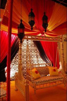 Mehndi Stage Decoration Ideas 2015 In Pakistan Pictures Desi Wedding, Wedding Stage, Wedding Swing, Wedding Lehnga, Wedding Lighting, Church Wedding, Garden Wedding, Wedding Ceremony, Moroccan Design