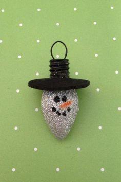 Glitter Light Bulb Ornament by