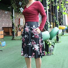 Amazon.com: KASCLINO Women's Floral Printed Dress, A Line Long Sleeve V-Neck Elegant Dress with Pockets: KASCLINO Cheap Vintage Clothing, Vintage Outfits, White Cocktails, Formal Dresses For Women, Floral Prints, Pockets, Wine, Amazon, Elegant