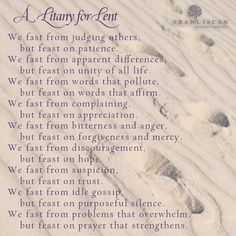 A litany for #Lent. #prayer
