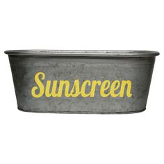 Sunscreen storage bu