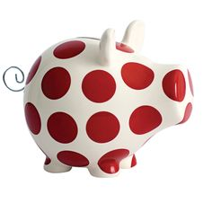 Oink Red Polka Dot Money Box #PimpiStyle