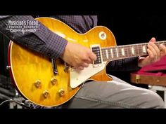 Gibson Custom 2014 1959 Les Paul Reissue Quilt Hand-picked Electric Guitar Green Lemon | Musician's Friend