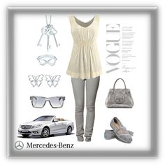 Mercedes casual, created by kathy1 on Polyvore