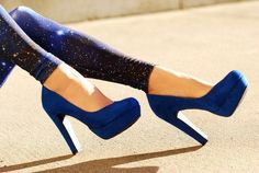 I desperately need a pair of blue heels!! My favorite color!