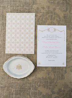 pink and gold invitation #wedding