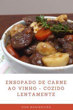 músculo bovino cozido lentamente com vinho tinto, cenoura, salsão, sabor inigualável