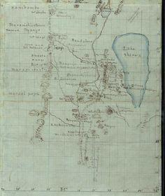 David Livingstone's hand-drawn map of Malawi's Lake Chilwa, 1863 [800x953]