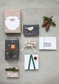 Christmas DIY gift wrap ideas with Panduro and Trendenser.