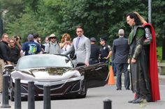 Acura Concept Roadster on Avengers Set. Guess the R8 had to go.