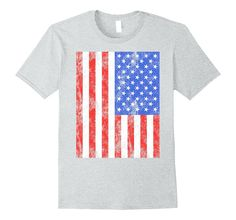 Distressed American Flag T-Shirt Big USA Vintage Flag Gift