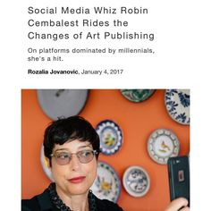 My former boss & mentor @rcembalest is featured on @artnet! Click on the link in her profile to read about her journey from @artnewsmag editor to social media strategist. Going to do one of those 365 days of gratitude things for 2017 (will make up for the past 4 days ASAP) & starting here makes sense. As mentioned in a previous post 2012 was a year of making life changes & the results led to me to @artnewsmag in 2013 where Robin took me on as an intern. I soon after worked under her as a…