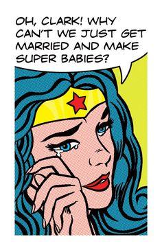 OH CLARK Wonder Woman Comic Book Pop Art Print 11x17 by RobOsborne