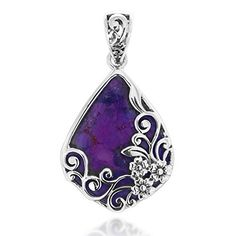 378 best purple turquoise jewelry images on pinterest turquoise 925 oxidized sterling silver decorative purple turquoise gemstone triangle tear drop pendant chuvora http aloadofball Gallery