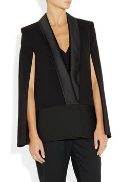 Victoria Beckham Silk and wool-blend cape jacket