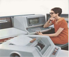 woman, computers