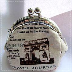 Handmade Coin Purse  Paris Newspaper by Apursemarket on Etsy, $20.00