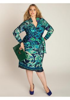 LIKE if you ♥ wrap dresses! We think this Plus Size Enrica Wrap Dress from IGIGI By Yuliya Raqual is a stunner!