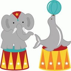 Circus Seal and Elephant shapes | now 30% off in the Silhouette Online Store until July 31!