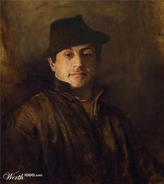 """Sylvester Stallone. Artists from creative website worth1000.com have tried """"to catch the moment"""" and show us famous paintings but with modern celebrities in the main roles. Some of them look very natural in their new roles."""