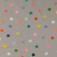 Cotton grey w multicolour stars Diy Costumes, Printer, Kids Rugs, Stars, Sewing Ideas, Fabric, Cotton, Autumn, Patterns