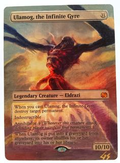 Ulamog, the Infinite Gyre MTG Magic Altered Art Custom Hand Painted Hot OOAK OOP #WizardsoftheCoast