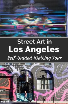 Get inspired by great street art with this self guided walking tour of the Arts District in Los Angeles. This street art down is very close to downtown Los Angeles. It's easy, compact and you can get a beer afterword.