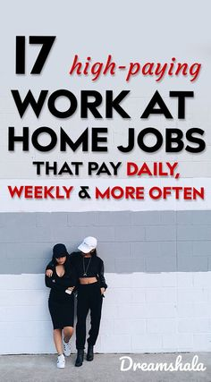 17 high-paying work at home jobs that pay daily, weekly and more often. Check the list of work from home jobs that pay big bucks in Pick the best one and start working today to make big bucks from home. Earn Money From Home, Earn Money Online, Online Jobs, Way To Make Money, Quick Money, Money Fast, Work From Home Opportunities, Work From Home Jobs, Money Saving Tips