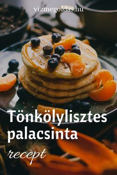 Egészséges reggeli - Tönkölylisztes palacsinta recept Waffles, Pancakes, Healthy Recipes, Healthy Food, Cheesecake, Snacks, Breakfast, Desserts, Diet