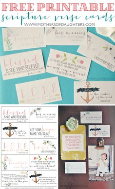 Free Printable Encouraging Scripture Cards (+ a tutorial for making magnets) affirmation box Verses For Cards, Scripture Cards, Scripture Study, Bible Verses, Printable Scripture, Scriptures, Prayer Cards, Scripture Lettering, Prayer Box