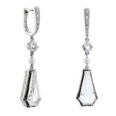 White Quartz, Freshwater Cultured Pearl & Diamond Earrings 14K :: Ben Bridge Jeweler