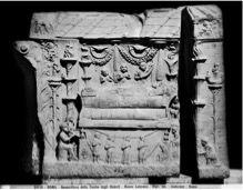 Relief Tombe des Haterii, chambre funéraire, Musée du Vatican, Ier siècle ap. JC
