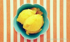 Fresh Orange Sorbet.  Super easy recipe!