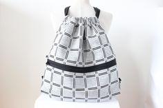 Rucksäcke - Großer Rucksack, schwarz / weiß - ein Designerstück von dreilingunikate bei DaWanda