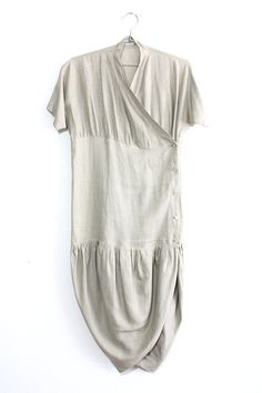 Romeo Gigli Sculptural Linen Dress by jamesrowlandshop on Etsy