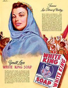 WHITE KING SOAP White King, Jerry Lewis, Vintage Ads, Merlin, Love Story, Pin Up, Soap, Advertising Agency, Vintage Advertisements