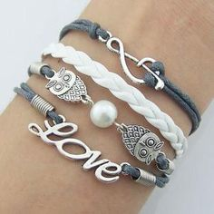 Infinity, Music Note, pearl,Owls, Bracelet – Handmade– Christmas gift