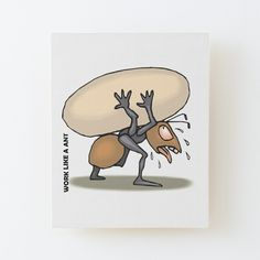 'The Mighty Ant' Canvas Mounted Print by Beer-Bones Canvas Prints, Art Prints, Free Stickers, Wood Print, Ants, Cotton Tote Bags, Floor Pillows, Duvet Covers, Print Design