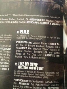 50 Cent p.i.m.p credits