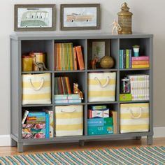 Cubic Bookcase (Grey, 12-Cube)  | The Land of Nod