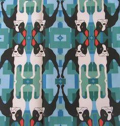 Boston Terrier fabric pattern