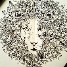 Philippines-based illustrator Kerby Rosanes uses traditional black pen to create marvelously intricate, whimsical and heavily patterned drawings. Rosanes' artworks are made in a gorgeous mosaic principle, where thousands of separate details and characters join together in a massive composition, just like the cells in a living organism.