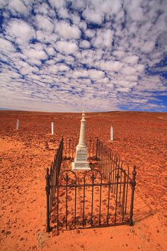 Note from person I pinned this from: 'Cemetery in Innamincka, Outback South Australia -- A rather nice place to RIP, even with all that red dust, although I don't suppose you'd mind it's persistent adherence when you've passed on. South Australia, Australia Travel, Cairns Australia, Melbourne Australia, Western Australia, Tasmania, Old Cemeteries, Graveyards, Destinations