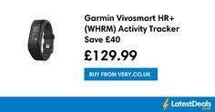 Garmin Vivosmart HR+ (WHRM) Activity Tracker Save £40, £129.99 at Very.co.uk