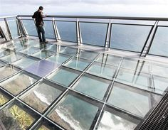 The Glass Floor at Miradouro Do Cabo Girao is not for the faint hearted but is a must visit — at Funchal, Madeira Island, Portugal.
