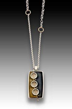 3 Circle Rectangle Necklace ~ Eileen Sutton